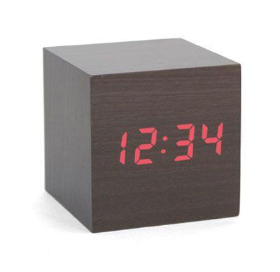 Alarm Clock | wood cube