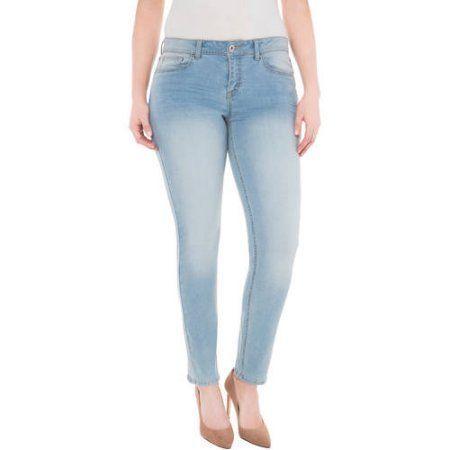 Plus Size Jordache Women's Plus Super Skinny Crop, Size: 24W