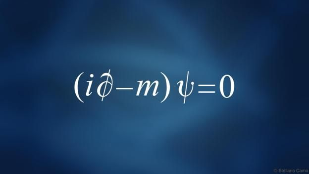 Plain Dirac for body text (Credit: Stellario Cama). The Dirac equation predicted the existence of antimatter