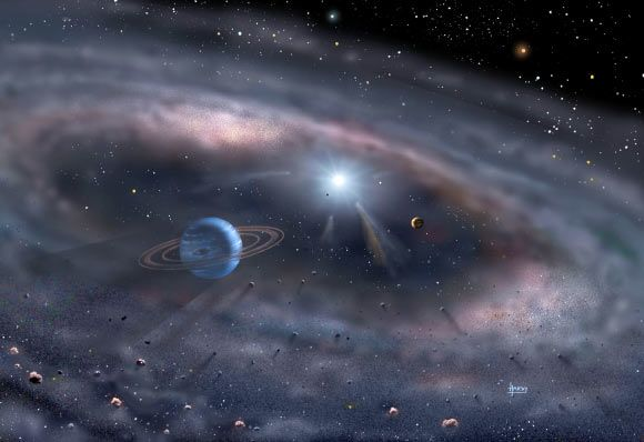 Solar System's Birth was Triggered by Nearby Low-Mass Supernova / SciNews 11/29/16 Planets form around a young star in this artist's concept: David A. Hardy, www.astroart.org / NASA.