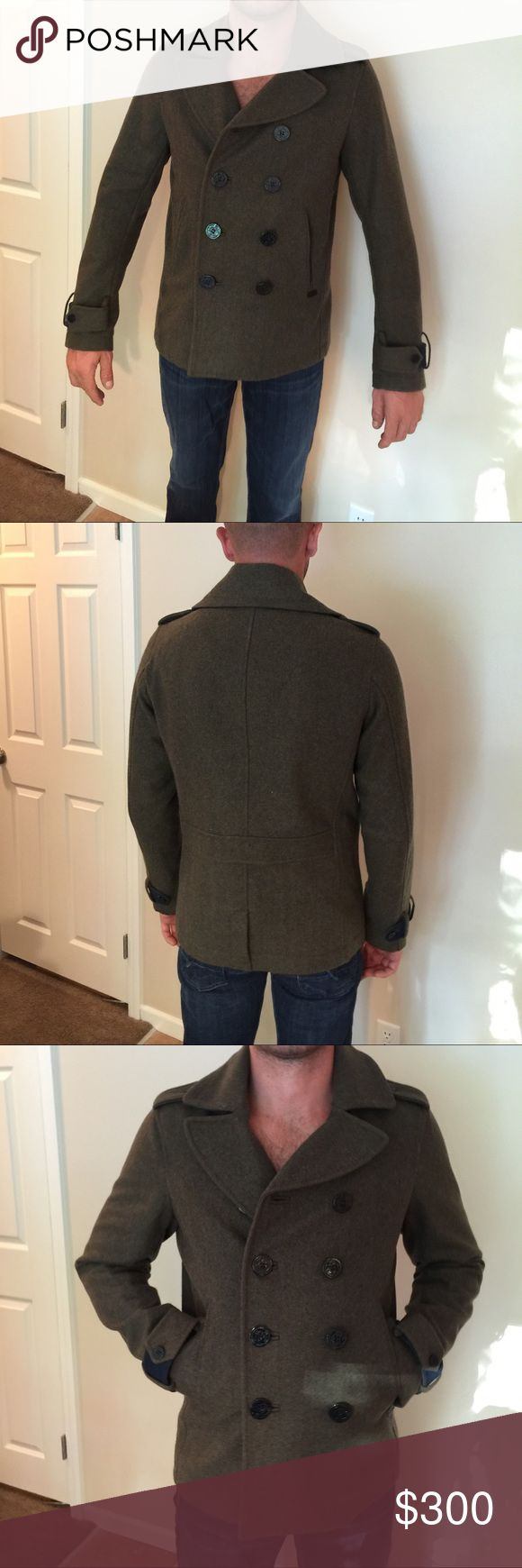 Mens diesel coat size large wool jacket color is olive green size is large never worn with tags Diesel Jackets & Coats Pea Coats