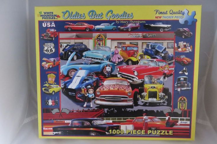 White Mountain Puzzles 1000 Piece 1950s OLDIES BUT GOODIES Mary Thompson Jigsaw #WhiteMountain
