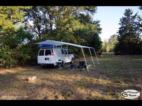 This camper built his own canopy/awning system. Well done. Custom Canopy System For Stealth Camper Van