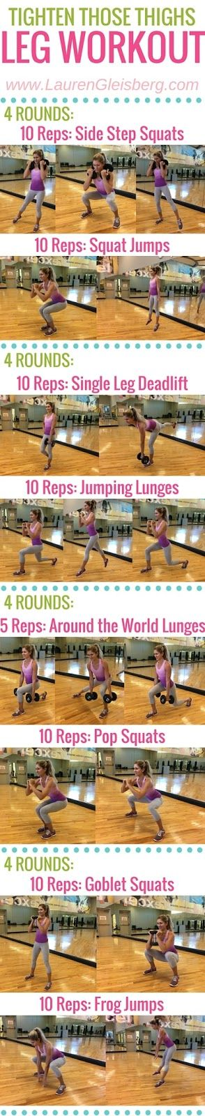 TIGHT THIGHS & BUTT LEG WORKOUT | click for more workouts to tighten and sculpt