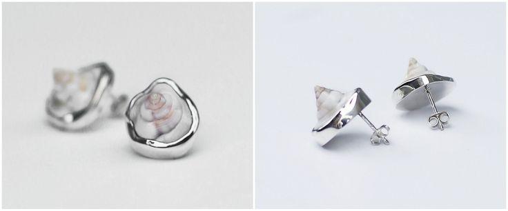 Kolczyki z muszelkami, które zostały wymyślone przez naszą klientkę. Wykonane ze srebra. Muszelki oczywiście zostały znalezione na plaży :)   #biżuterianazamówienie #kolczykizmuszelkami #spełniamymarzenia