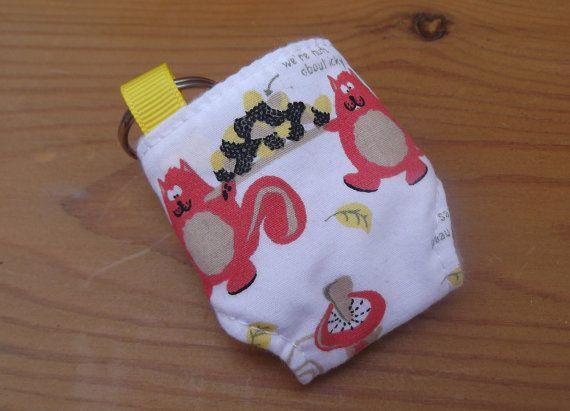 Cloth Diaper Nappy Mini Keychain Keyring Icky by GirlsGotFabric