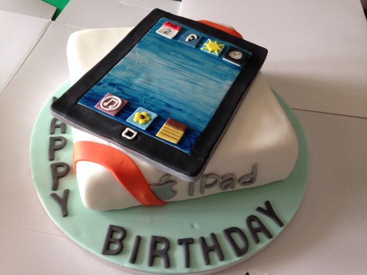 iPad cake for dads