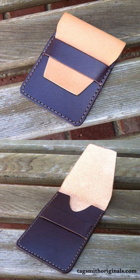Cool two tone leather wallet custom made for a good customer.