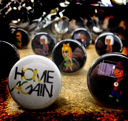 Custom Button Design for the hit TV show home again. We made these for Hungry Eyes TV & Production.