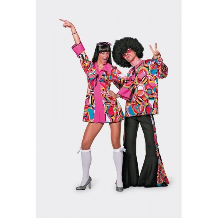 Hippie Hippy Disco Kleid sexy kurz 70er 80er Jahre Party...