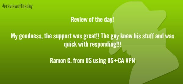Review of the day! See all the reviews from US here: http://www.ibvpn.com/reviews/?c=us