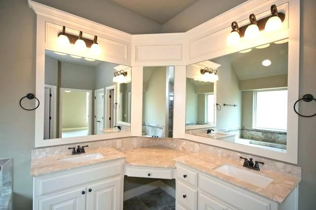 Corner Bathroom Vanities And Sinks Corner Vanity Sink Master Bath With Corner Vanity And Double S Corner Bathroom Vanity Trendy Bathroom Double Vanity Bathroom