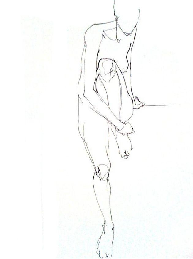 - Vanessa Garwood - Nude line sketch -