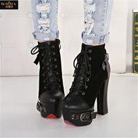 2015 европа стиль новое поступление бренд летом стиль круглый носок высокие каблуки женщин туфли на высоком каблуке ночной клуб ну вечеринку обувь красный и черный размер 35-39