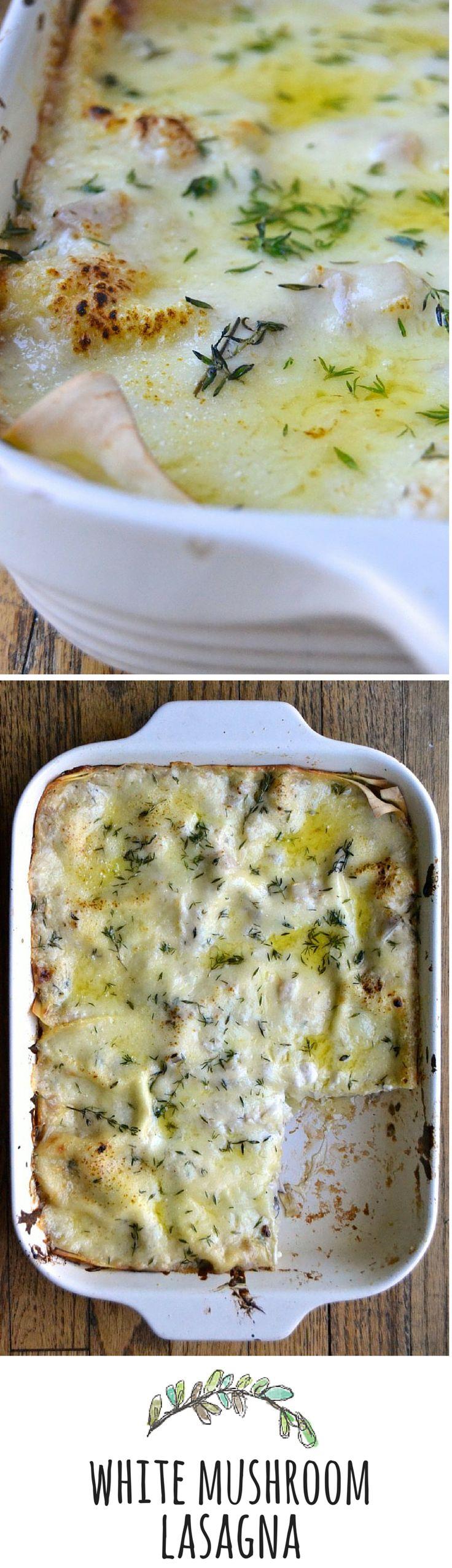 white mushroom lasagna #vegetarian #dinner