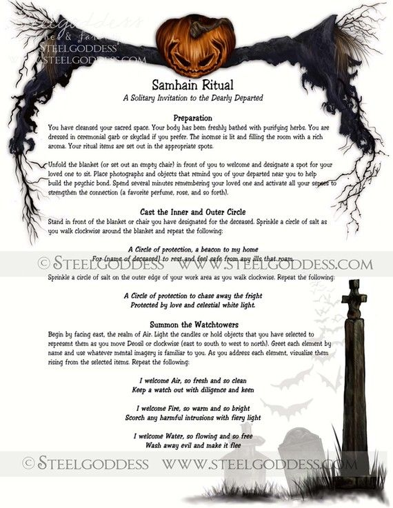 Samhain Ritual  Book of Shadows spell pages by steelgoddess, $14.95