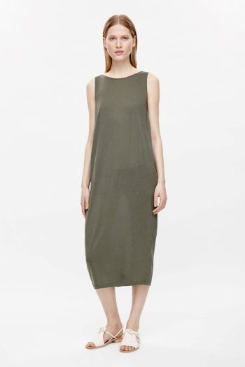 Dress with layered back