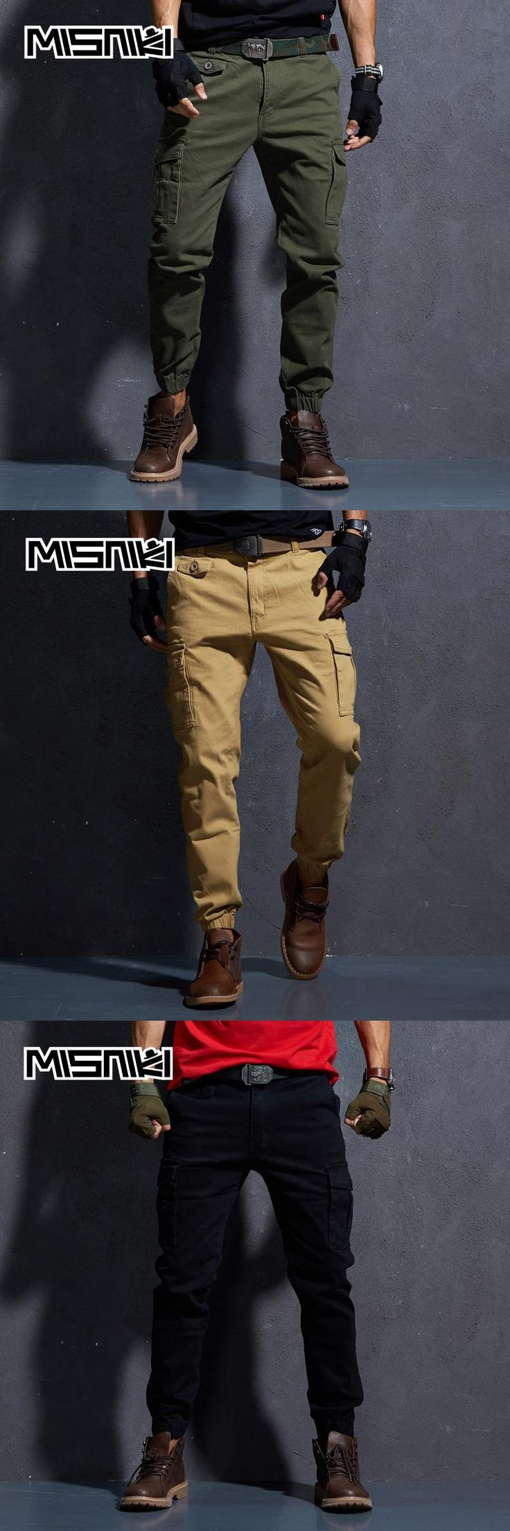 MISNIKI 2018 New Fashion Urban Tactical Pants Mens Cotton Casual Cargo Trousers Men Pantalon Hombre