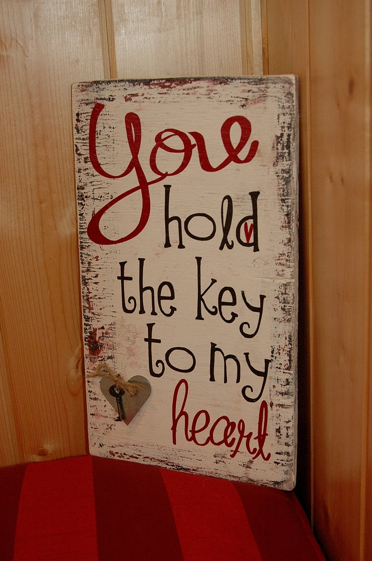 You hold the key to my heart Rustic wood sign by AllMyGoodness, $23.00