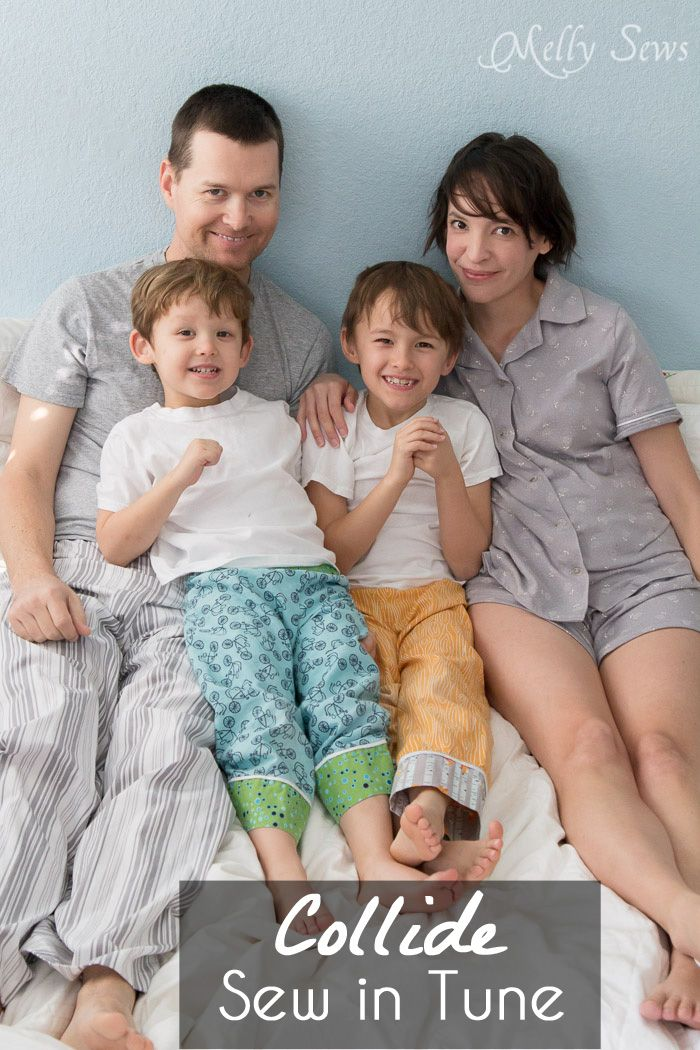 Family pajama photo inspired by Collide - Melly Sews for Sew in Tune - sew pajamas for your family