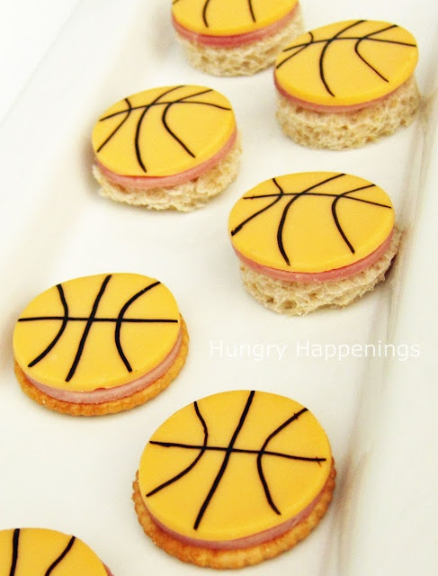 Basketball Cheese and Crackers Recipe.  We are getting ready for basketball to start!