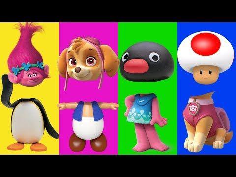 (1) Wrong Heads For Kids PAW Patrol Pingu Trolls Finger Family Song Nursery Rhymes Kids Hangout - YouTube