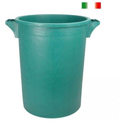 Pratico contenitore per rifiuti nelle capacità 50, 75, 100 litri. Da esterno, per casa e ad uso commerciale ed industriale.