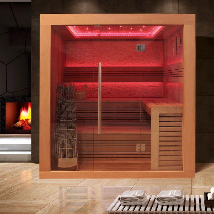 EO-SPA Sauna E1241A rote Zeder 220x170x216 9KW Harvia Kiwi | Sauna EO-SPA E-Serie = finnische Sauna | Sauna Eo-Spa | Onlineshop Sauna Whirlpools HQ-wellness