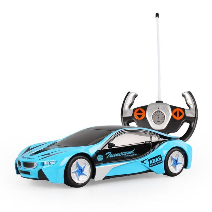 4CH Kids Radio Control white blue Remote Control RC Racing Racer Drift Sport Car Toy