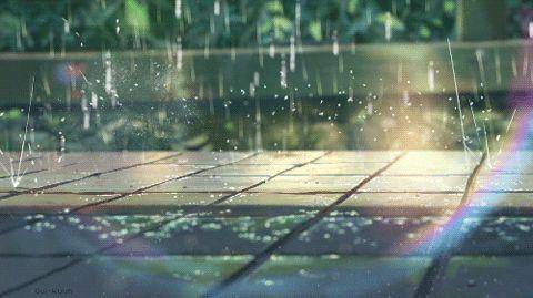 arco iris lluvia