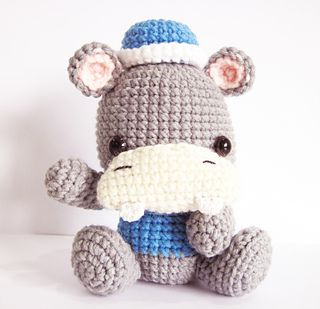 Ben the Hippo - $2.99 by Sweet N' Cute Creations