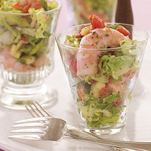Sweet and Spicy Shrimp and Avocado Salad with Mango Vinaigrette | MyRecipes.com #myplate #protein #vegetable