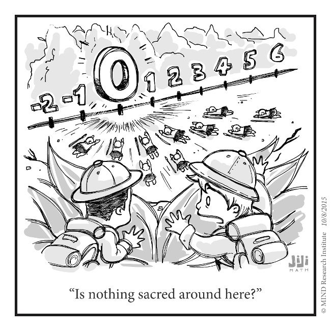 Captivating Nothing Sacred Funny Math Cartoon From Off The Number Line