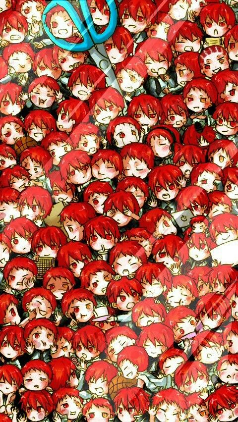 A few Akashis on my scree | KnB | Anime #anime trapped behind glass
