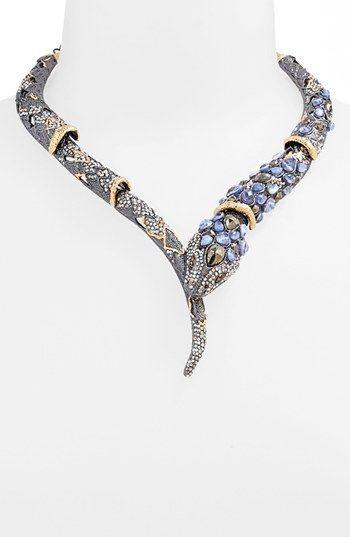 1000 ideas about snake necklace on pinterest snake for Alexis bittar jardin de papillon earrings