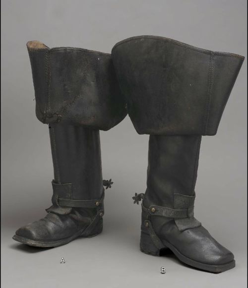 Riding Boots    1700-1760    The Museum of Fine Arts, Boston  ~~~  I want these.  There is a footwear maker online that will make historical boots like these in your size.