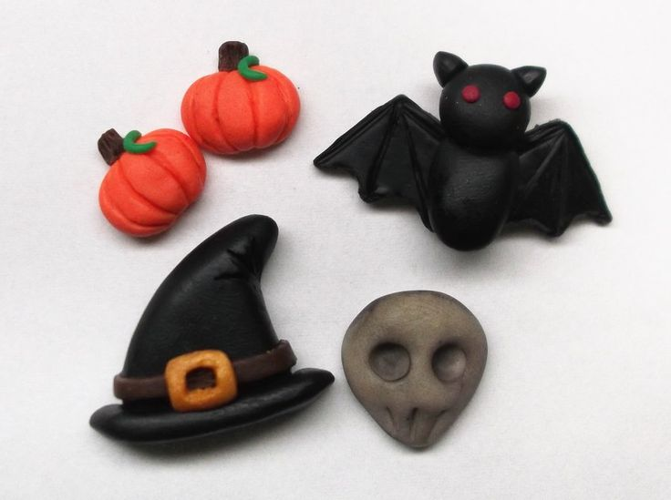 Halloween Polymer Clay Charms by AutumnLeong on deviantART