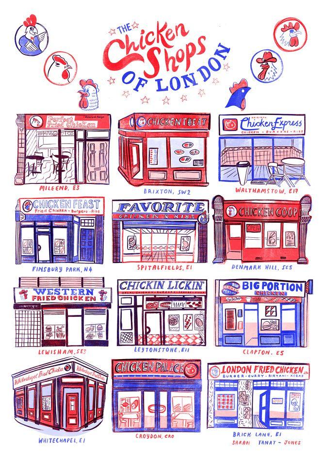 Chicken Shops of London - Sarah Tanat-Jones