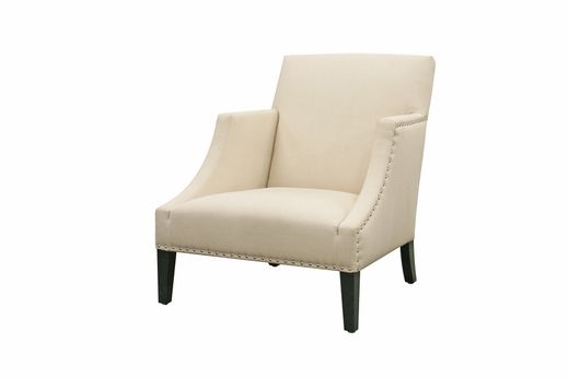 Wholesale Interiors Baxton Studio Heddery Cream Fabric Modern Club Chair