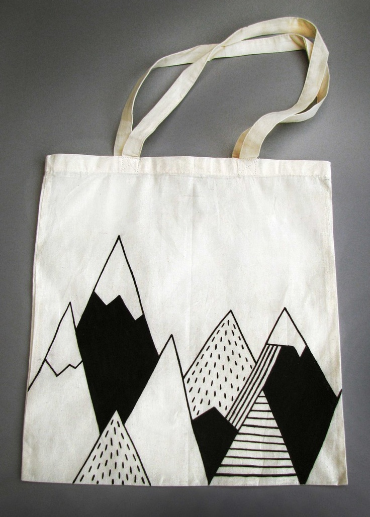 Mountain Tote Bag by Siobhan Jay siobhanjay.com #mountaintotebag #mountain                                                                                                                                                      More