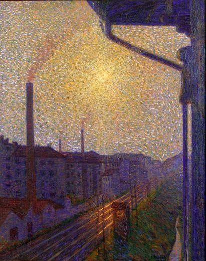 Luigi Russolo - Periferia-Lavoro 1909