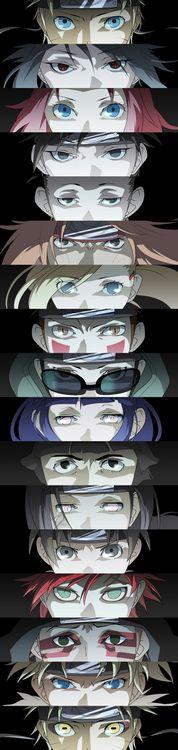 Naruto, Sasuke, Sakura, Sai ,Shikamaru, Chogi, Ino, Kiba, Shino, Hinata, Lee…
