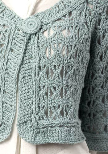 cropped crocheted sweater