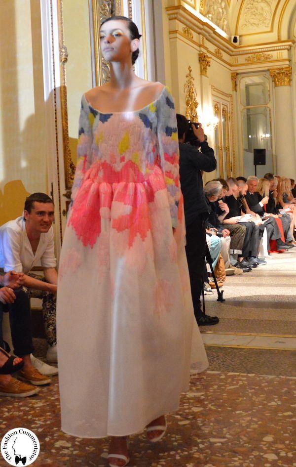 Polimoda Show 2015    i delicati intarsi di pelliccia color pastello di Violante Toscani