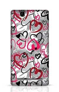 Love-Print Sony Xperia T2 Phone Case