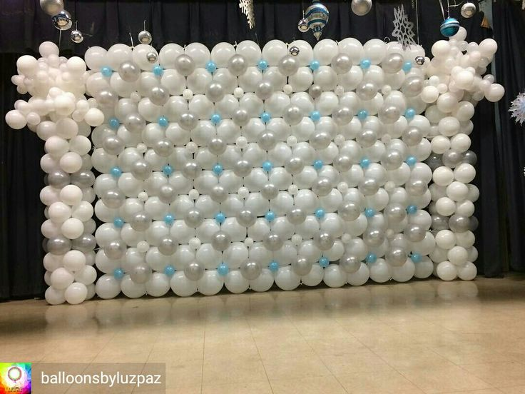 954 best images about balloon walls back drops on for Balloon backdrop decoration