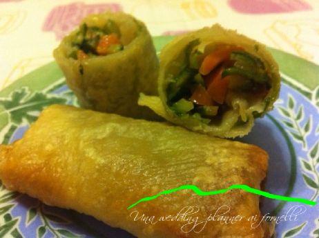 Cena cinese prima parte - Involtini primavera vegetariani