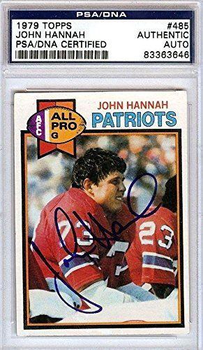 John Hannah New England Patriots Autographs
