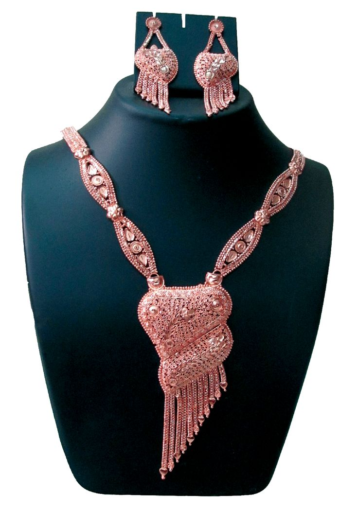 Designer Copper Necklace.  SKU: CJN001650015 Price: INR 849
