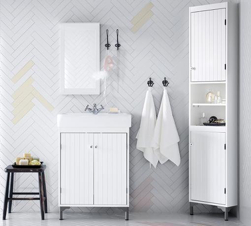 Muebles de ba o ikea silveran para espacios peque os for Cuadros para banos ikea